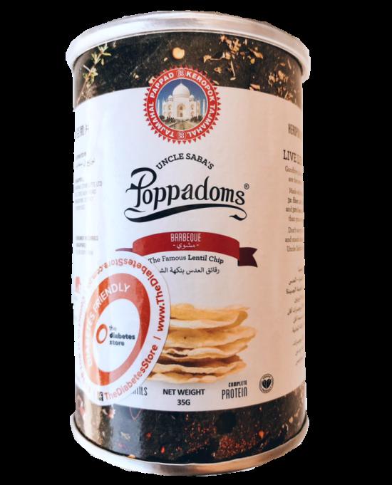 Uncle Saba's Poppadoms Barbeque Flavor 35G