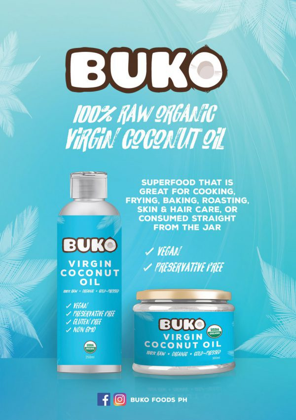 Buko Organic Virgin Coconut Oil 250mL