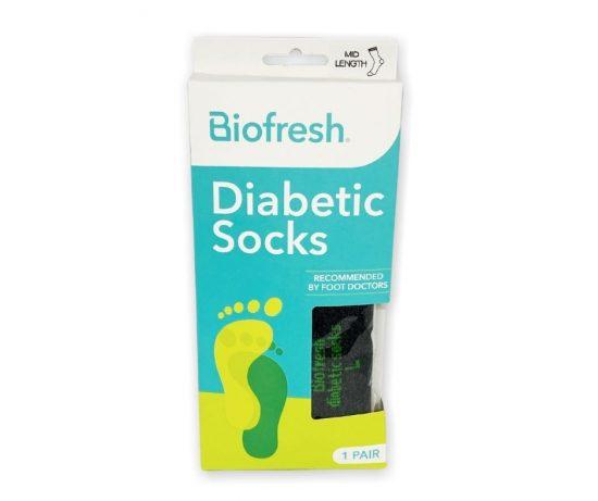 BioFresh Diabetic Socks (Black/Gray)