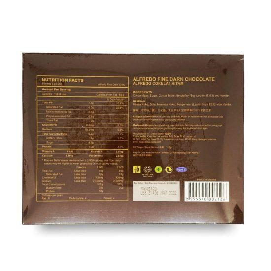 Alfredo 5-Selection Dark Chocolates 110G