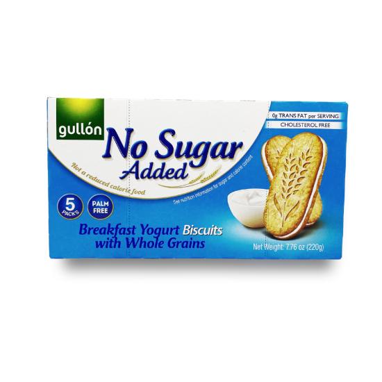Gullon No Sugar Added Breakfast Biscuit Yogurt 220G